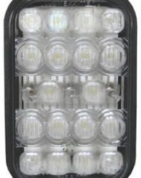 Rectangular White Back-Up Light with 18 LEDs