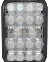 Rectangular White Back-Up Light with 18 LEDs