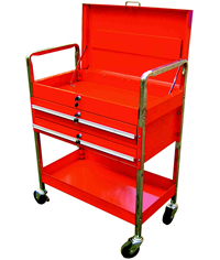 Tubular Frame Locking Tool Cart with Locking Lid