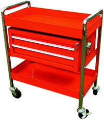 Tubular Frame Locking Tool Cart with Removable Toolbox