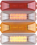 "12 LED 4"" Rectangular 2 Pin Clearance Marker Light"