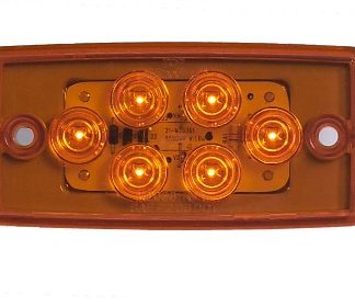 """6 LED 3/4"""" x 4"""" Clearance Marker - Freightliner Style"""