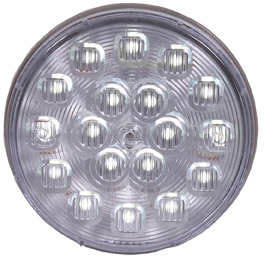 "4"" Round White Back-Up Light with 18 LEDs"