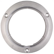 "4"" Round Snap-On Stainless Steel Security Flange"