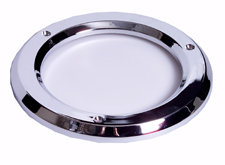 "4"" Chrome Plastic Grommet Cover"