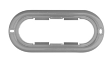 Snap-On Oval Gray Poly-Carbonate Flange