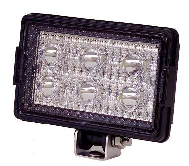 Rectangular Heavy Duty Work Light - 650 Lumens