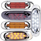 13 LED Chrome Oval Clearance Marker