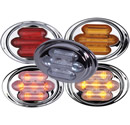 7 LED Mini-Chrome Oval Clearance Marker