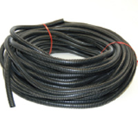 "Black Polyethylene Wire Loom Coiled 5/8"" x 100'"