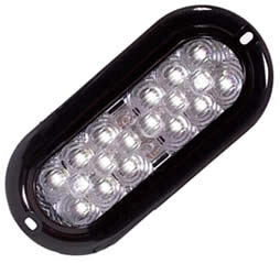 18 LED Oval White Back Up Light